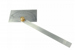 Stainless Steel Protractor with Brass Locknut. M0001
